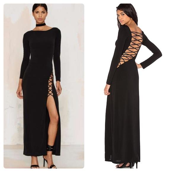 dd5b9c5006 The Jetset Diaries Lace Up Maxi Dress in Black